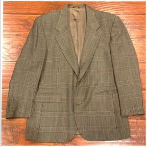 PIERRE BALMAIN Men's Plaid Print Blazer